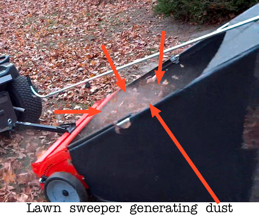 Health effects of leaf blowers and lawn vacuums